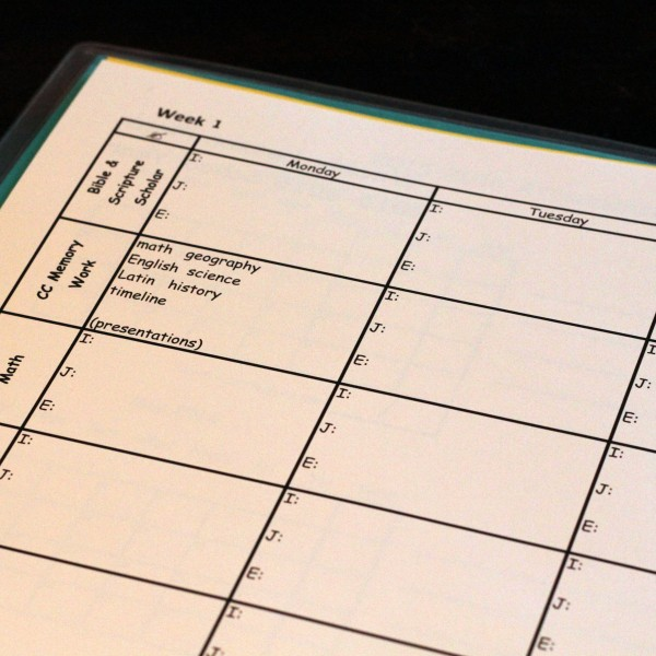 Weekly Subject Planner